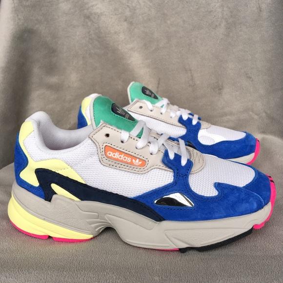 New Adidas Falcons Sneakers Multicolor Suede